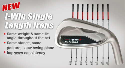 Single Length ijzers Integra I-Win 5-PW incl. clubfitting